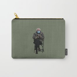 Bernie Sanders Mittens Chair Meme Vector Art Carry-All Pouch
