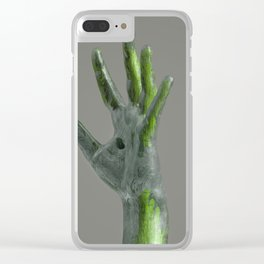 Hand (green) Clear iPhone Case