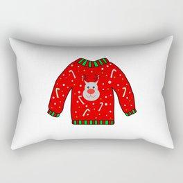 Ugly Christmas Sweater Rectangular Pillow