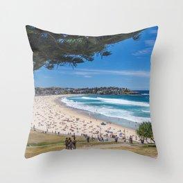Bondi Beach looking north. Throw Pillow