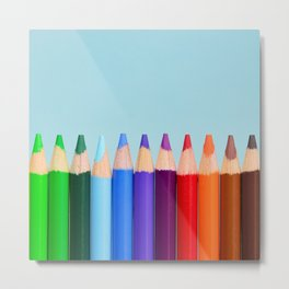 Cute Little Color Pencil Metal Print
