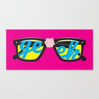 geek Canvas Prints featuring Geek by Aaron Synaptyx Fimister