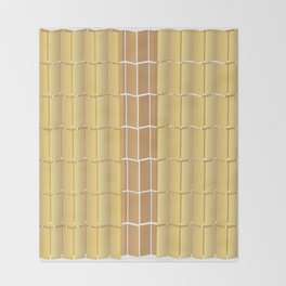 Bamboo Blinds Throw Blanket