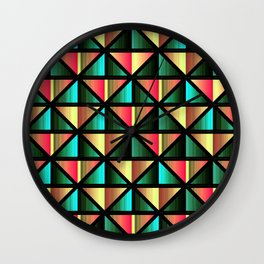 Emerald triangles Wall Clock