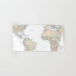 Clear World Map Hand & Bath Towel
