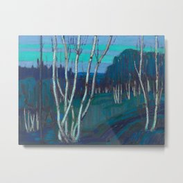Tom Thomson Silver Birches Canadian Landscape Artist Metal Print