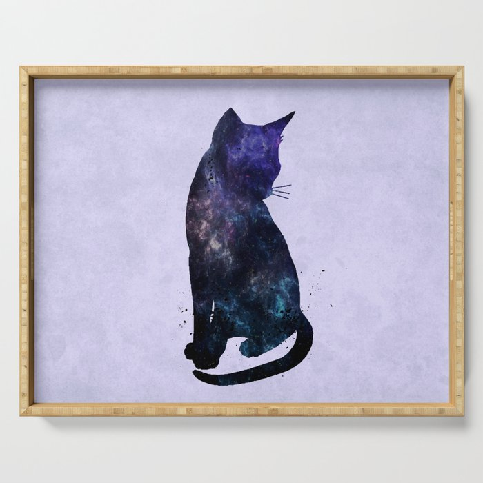 Galactic Cat Serving Tray