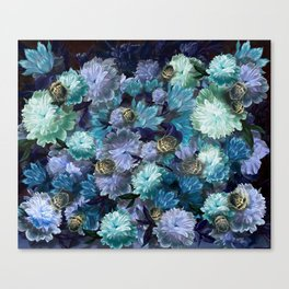 """Baroque floral with bugs"" Canvas Print"