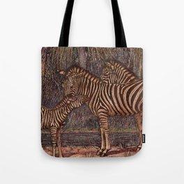 Vintage Zebra Painting (1909) Tote Bag