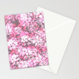 Spring Leaves (Pink) Stationery Cards