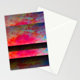 Red Color Blinds Stationery Cards
