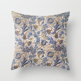 Aged Pomegranate Pattern Throw Pillow