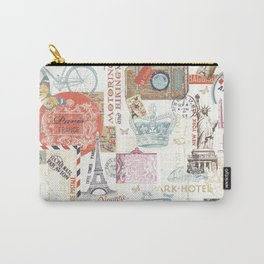 Paris Pattern 1 World Travel Carry-All Pouch