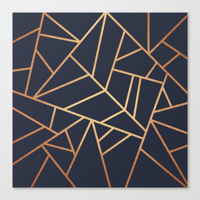 Copper and Midnight Navy Leinwanddruck