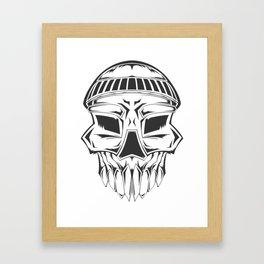 Beanie Skull Framed Art Print