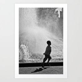Spring in his step. (Melbourne, 2011) Art Print