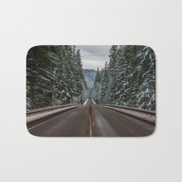 Winter Road Trip - Pacific Northwest Nature Photography Bath Mat