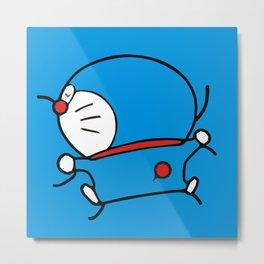 Doraemon Sleepy Metal Print