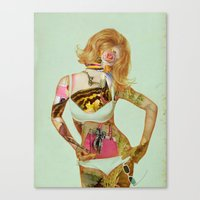 Canvas Prints featuring PAPER DOLL by Julia Lillard Art