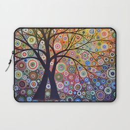 Abstract Art Landscape Original Painting ... Magic Garden Laptop Sleeve