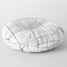Oxnard Map, USA - Black and White Floor Pillow