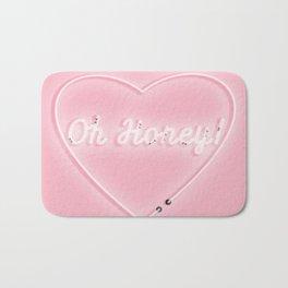 Oh Honey! 'Neon' Sign Bath Mat