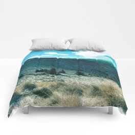 landscape in turqouise Comforters