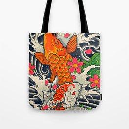 Art of Koi Fish Leggings Tote Bag
