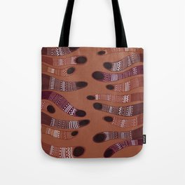 moving towards each other Tote Bag