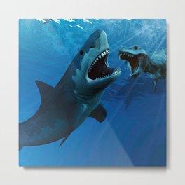 Jurassic shark Metal Print