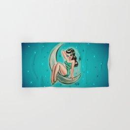 Glamour Girl on the Moon Hand & Bath Towel