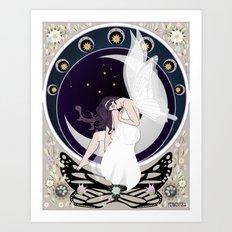 Art nouveau fairy Art Print
