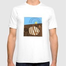 Gluttony SMALL White Mens Fitted Tee