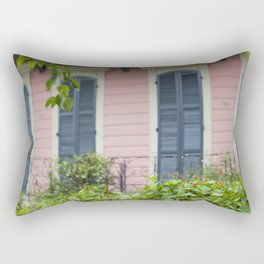 New Orleans Pink Front Porch Rectangular Pillow