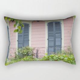 New Orleans Pink Front Porch Rectangular Pillow