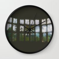 window Wall Clocks featuring Window by Aaron Carberry