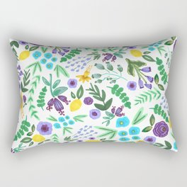 Lavender and Lemons Rectangular Pillow