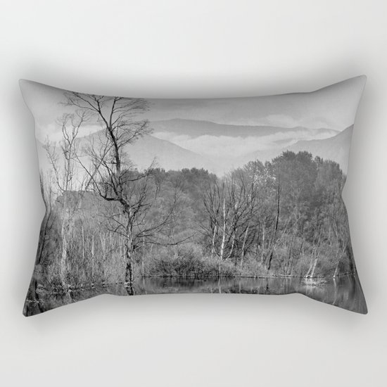 """Mammoth paradise"". Mono. Rectangular Pillow"