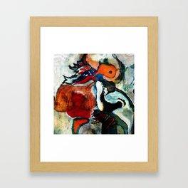 Orange Abstract Art / Surrealist Painting Framed Art Print