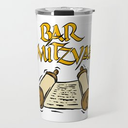 Bar Mitzvah with scroll Travel Mug
