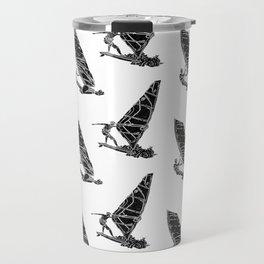 Windsurf Pattern white Travel Mug