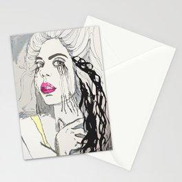 She's got Mila Kunis eyes Stationery Cards