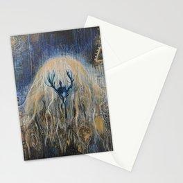 cosmic jellyfish Stationery Cards