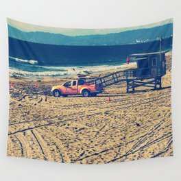 Lifeguard On Duty Wall Tapestry
