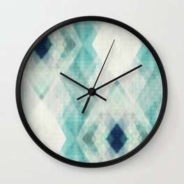 pastel art, pastel abstract, watercolor art print, Abstract art, blue abstract, abstract print Wall Clock