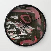heavy metal Wall Clocks featuring Heavy Metal Music by Corbin Henry