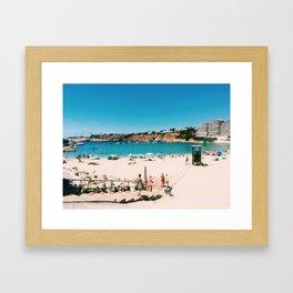 Beach Day in Mallorca Framed Art Print