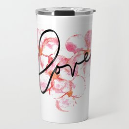 "Plumeria Love - A Romantic way to say, ""I Love You"" Travel Mug"