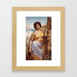 Classical Art Tattooed #1 - John William Godward Framed Art Print