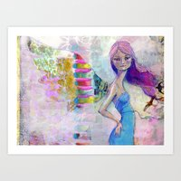 jane davenport Art Prints featuring Perfect Little by Jane Davenport by Jane Davenport